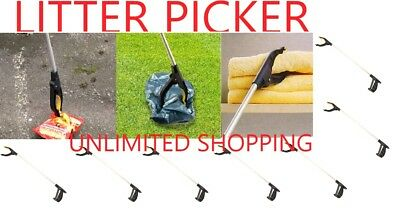 HEAVY DUTY Litter Picker (76cm) Extra Long Handy Mobility Aid Reaching Assist