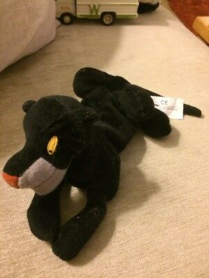 "Disney Plush Beanie Bagheera The Jungle Book 8"" Long"