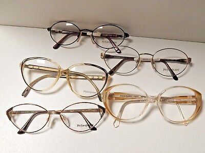 """""""yves Saint Laurent""""lot The 5 Vintage Frames.*never Used*old Stock*"""