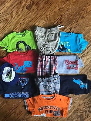 11pc LOT of boy summer clothes size 18 months crab dinosaur motorcycle