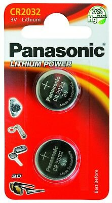 CR2032 Battery 2 pack Panasonic Lithium Coin Cell 3V Car Alarm Key Fob Batteries