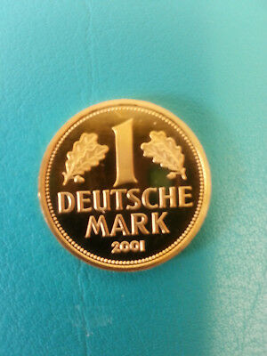 Goldmark 2001,1 DM in Gold,12 Gramm Feingold,Goldmünze,Gold,Münze,Deutsche Mark