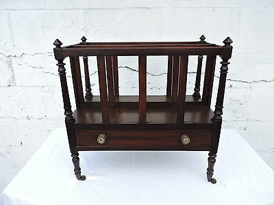 Empire Early 1800s Solid Mahogany Newspaper Stand Magazine Rack 8042