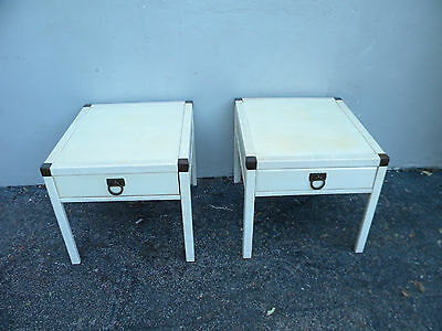 Hollywood Regency Mid Century Pair of Painted End Side Tables by Drexel 2765
