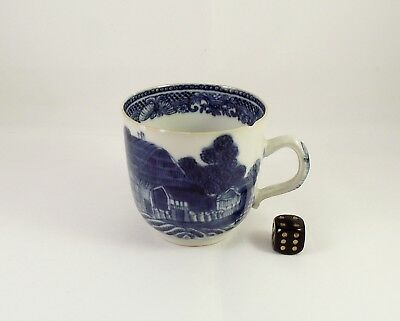 18thC Chinese Blue & White Cup Qianlong ca 1780 Trench Mortar Pattern (2)