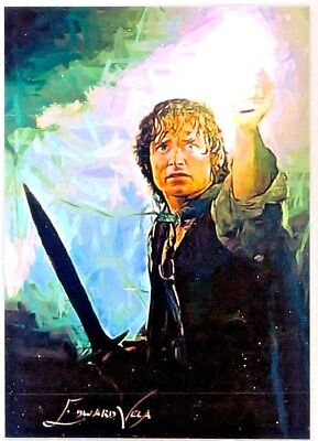 Lord Of The Rings, Frodo Baggins #4 Sketch Art Card LE 1/25 Artist Vela Signed.