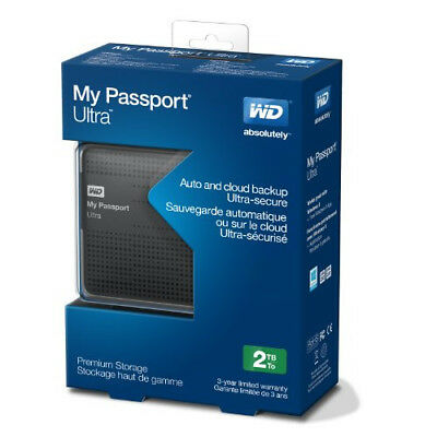 Holliday Sale!! WD My Passport Ultra WDBMWV0020BTT-NESN 2TB USB 3.0 Portable New
