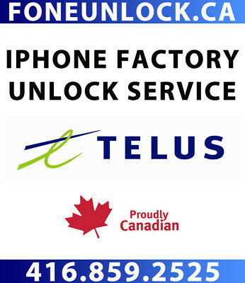 Unlock Telus iPhone Premium Service - ALL IMEI SUPPORTED