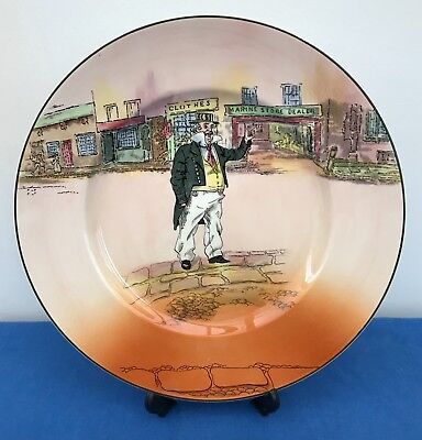 """Royal Doulton Dickens Ware Captain Cuttle 10.5"""" Collectors Plate Dombey and Son"""