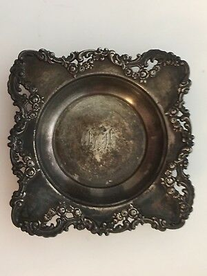 Repousse Antique New York Sterling Silver Theodore B. Starr Candy Nut Dish Bowl