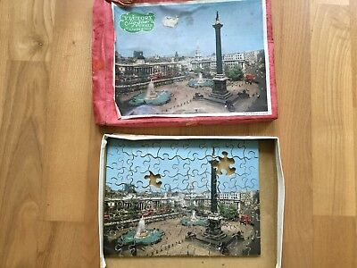 altes Victory Jig-saw Puzzle Plywood View of Trafalgar Square London England
