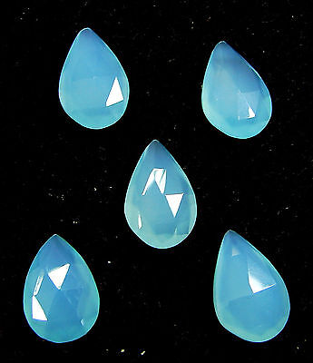 14.75 Ct Natural Blue Chalcedony Loose Faceted Gemstone Lot of 5 Pcs - 10848