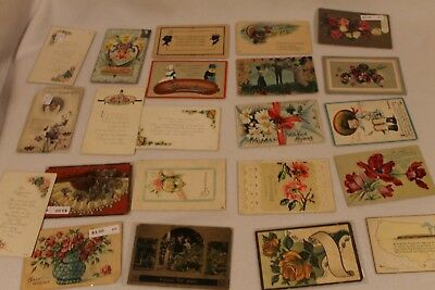 Vintage Mixed Lot of  22 Holidays & Greetings Postcards-Antique