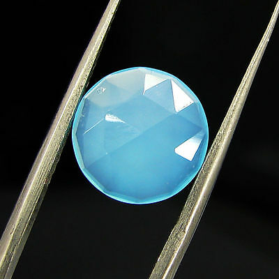 2.15 Ct Natural Blue Chalcedony Loose Faceted Gemstone Beautiful Stone - 10769