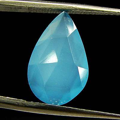 2.65 Ct Natural Blue Chalcedony Loose Faceted Gemstone Beautiful Stone - 10807
