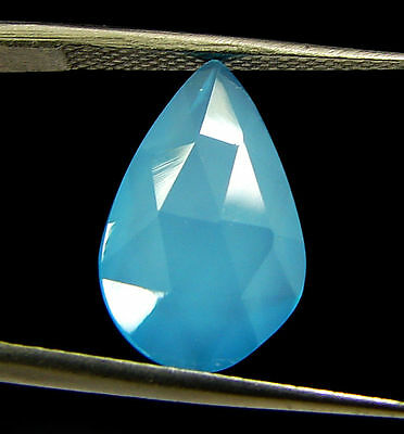 2.75 Ct Natural Blue Chalcedony Loose Faceted Gemstone Beautiful Stone - 10841