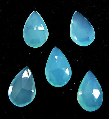 14.20 Ct Natural Blue Chalcedony Loose Faceted Gemstone Lot of 5 Pcs - 10847