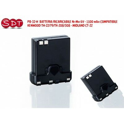 PB-32-H Batterie Rechargeable NI-MH 6V - 1100 MAH Compatible Kenwood TH-22/42 C