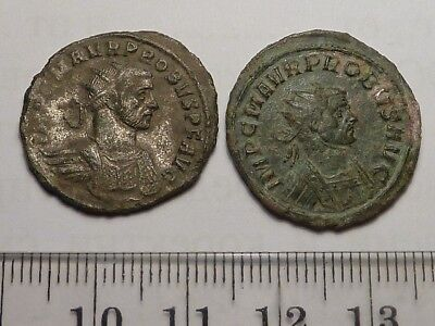 2454	Lot of 2 ancient Roman copper antonianus coins Probus - 3th century,