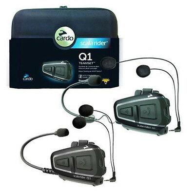 Scala Rider Q1 Teamset Motorcycle Headset Bike Helmet Intercom System