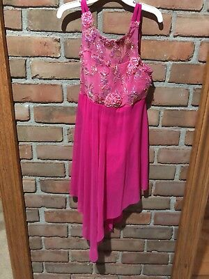 Dance Costume Outfit Child Large Weissman Pink Dress