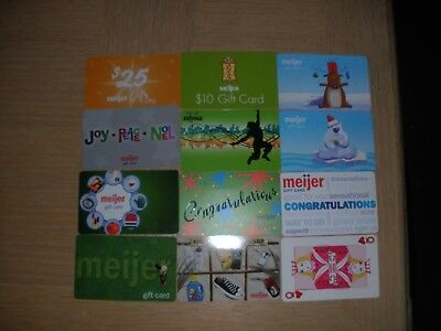 Meijer  12 different new collectible gift cards
