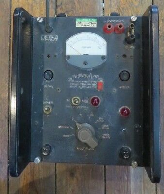 Vintage Gibbs Megaohmmeter General Radio Co. Meter Reacts When Powered On