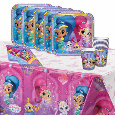 Shimmer And Shine Party Supplies Pack For 8 Table Cover Cups Napkins Plates
