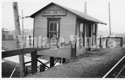 Original Photo Lvt Trolley Lehigh Valley Transit Wales Junction Early 1900's