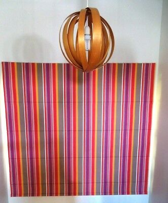 French cabaret striped fabric roman blind, 1800x1875mm
