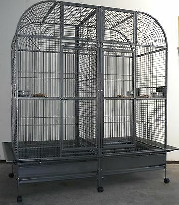 Brand New * Large Double Bird Cage Parrot Aviary 188cm * ED36