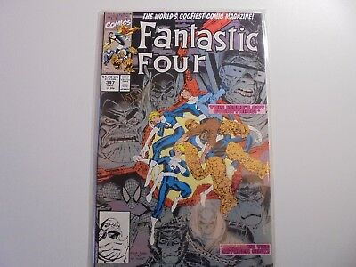 Fantastic Four #347 SIGNED ART ADAMS NM (1990, Marvel)