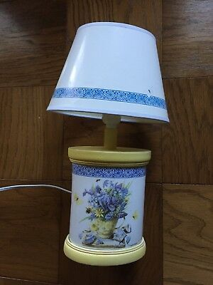 Marjolein Bastin Nature's Sketchbook Lamp~White/ Blue/Yellow Floral Decoration