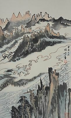 Excellent Chinese Scroll Painting  By Lu YanShao P:703 陆俨少