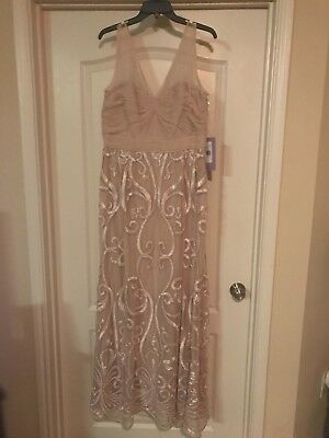 J.S. Collection Champagne Gown in Size 14