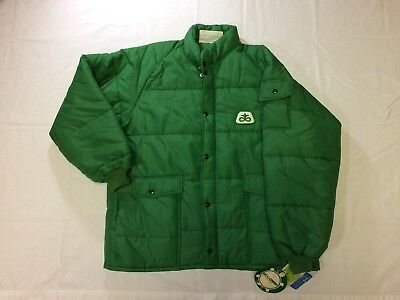 Vintage 1977 Green Pioneer Seeds Puffer Coat / Jacket - NEW with Tags - Size XL