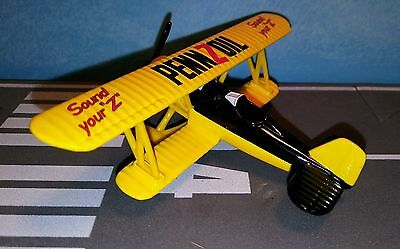 Pennzoil Stearman Barnstormer Biplane Diecast Scale 1/115 Gearbox Toys