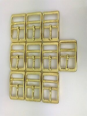 Double Bar Buckle - 20mm-3/4inch - SOLID BRASS