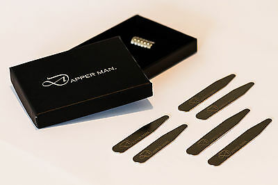 Magnetic collar stays by Dapper Man - 3 pairs, 3 Sizes in one pack