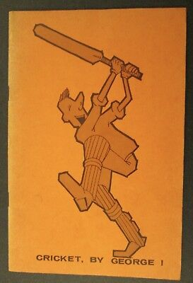 """SIGNED! GEORGE WALKER """"CRICKET, BY GEORGE!"""" DATED 1962 ~ b.1919 d.1995"""