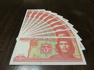 3 Pesos Che Guevara - 2005 - Banco Central C - UNC - Series FB-02 422...