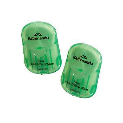 Kathmandu 2 Pack Travel Hiking Hassle Free Compact Hygiene Hand Body Wash Paper