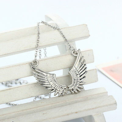 Pair Angel Wing 925 Sterling Silver Fashion Jewelry Necklace Choker for Women