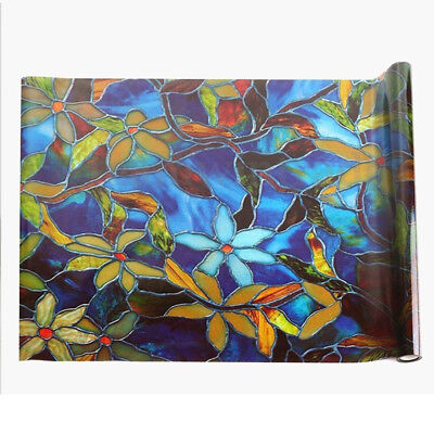 Stained Glass Window Film Shower Door Cabinet Privacy Filters Light