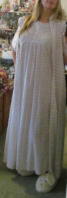 Vintage VICTORIAN STYLE Long Nightgown~Robe/House Coat 2 Pc Set ANNIE/SAY-LU M/L