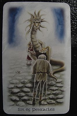 Six of Pentacles Celtic Dragon Tarot Single Replacement Card Excellent