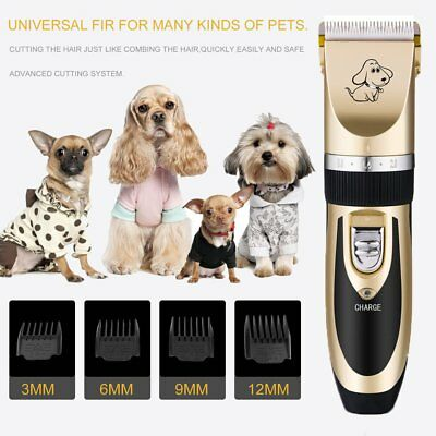 Cordless Electric Rechargeable Dog Clipper Grooming Comb Set Animal Cat Pet Hair