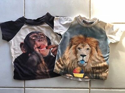 """Rock Your Baby X 2 Size 0 T-Shirts. """"Summertime Lion"""" + """"And The Same To You"""""""