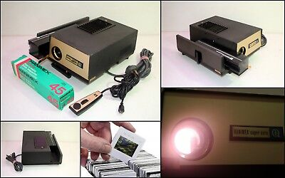 1970's HANIMEX Super Auto 35mm Slides Projector with Remote