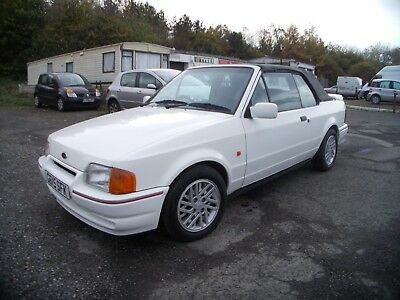 FORD ESCORT 1.6i CABRIOLET CONVERTABLE  CLASSIC EXCELLENT CONDITION 1990